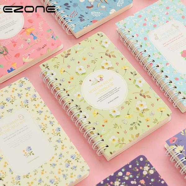 EZONE Koreanische Blume Floral Notebook Kawaii Nette Notizbuch Zeitschriften Persönlichen Tagebuch Sketch Notepad Schulbedarf Schreibwaren