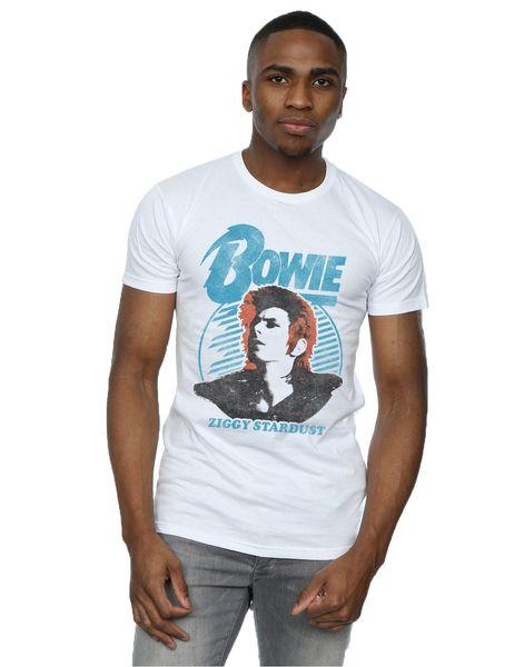 David Bowie Men's Ziggy Stardust Orange Hair T-Shirt Funny brand t shirt men 2018 new Fashion Printed Fashionable Round