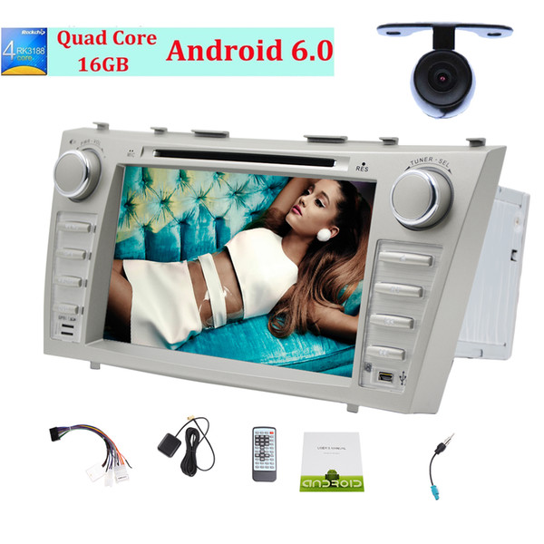 Car Stereo Latest Android6.0 Mashmallow Operation System Double Din Car dvd Radio for Toyota Camry Car GPS Navigation 3D Map Monitor BT