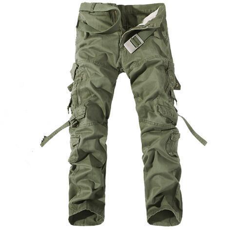 New Men Cargo Pants army vert grandes poches décoration Hommes Le pantalon décontracté facile à laver mâle automne armée pantalon