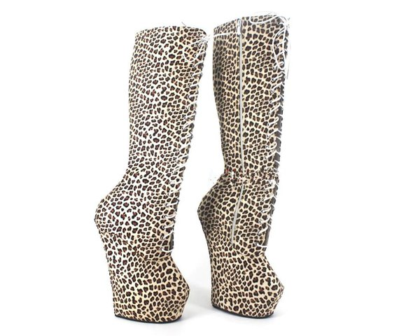 No high-heeled boots stage catwalk show high-heeled dress horseshoe high heels unisex models shoes
