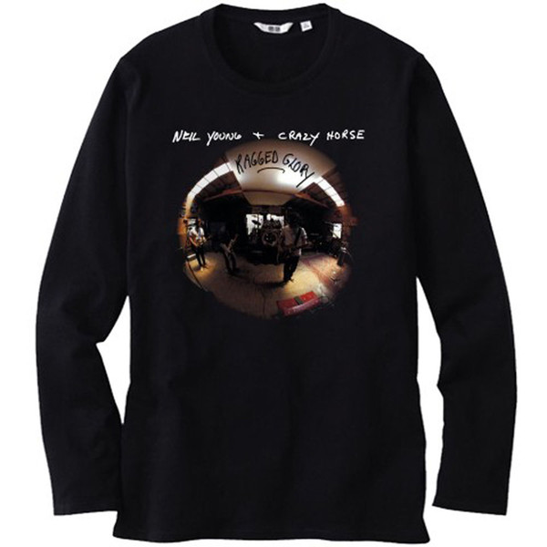 NEIL YOUNG CRAZY PFERD   Ragged Glory Herren Langarm Schwarz T-Shirt Größe  S- 913feb0d92