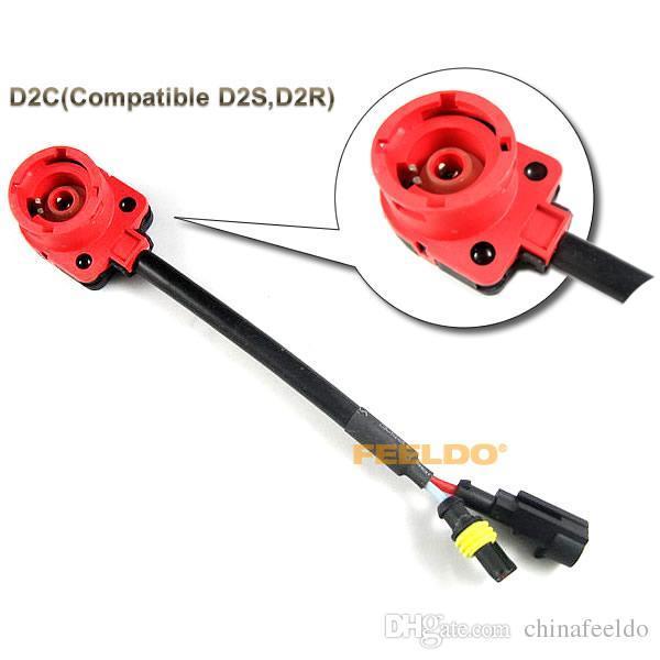 LEEWA Vente en gros de voitures HID Xenon Ampoule D2S / D2R / D2C Câblage Socket Adapters SKU # 2080