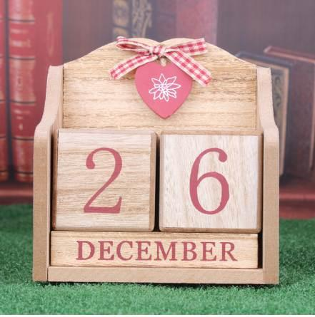 top popular 1 Pcs Creative Decorative Furnishing Calendar Wood Desktop Calendar European Pink Learning Periodic Planner Table Stationery 2020