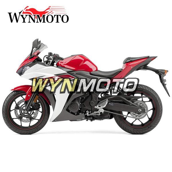 Bodywork completo 2015-2016 R3 / R25 ABS Carenado de inyección de plástico para Yamaha R3 R25 2015 2016 Kit de carenado de motocicleta Rojo Blanco Negro Cowlings