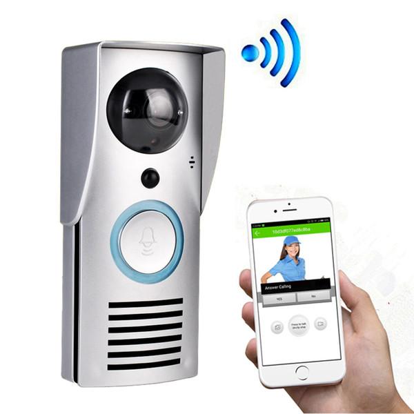 Interphone vidéo Sonnette WIFI Intelligent Sans fil Porte vidéo Bell 720P Caméra Night Vision Détection de mouvement Audio bidirectionnel