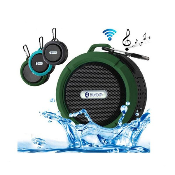 2018 Waterproof Bluetooth Speaker Shower Speaker C6 with Strong Driver Long Battery Life and Mic and Removable Suction Cup in Retail Package