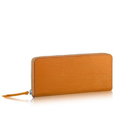 CLÉMENCE WALLET YELLOW M64305 Real Caviar Lambskin Chain Flap Bag LONG CHAIN WALLETS KEY CARD HOLDERS PURSE CLUTCHES EVENING