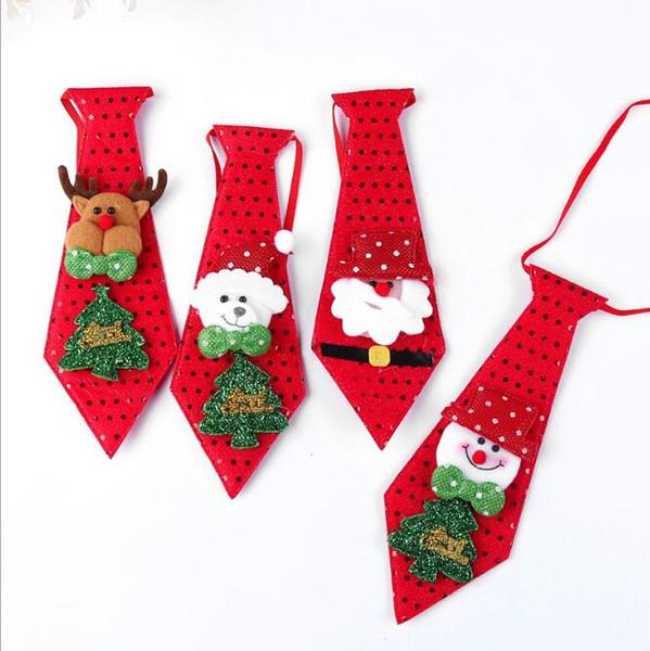 Noel kravat Kırmızı şarap şişesi kravat Yaratıcı hediye Noel süslemeleri çocuk Günü hediyeleri pul papyonlar