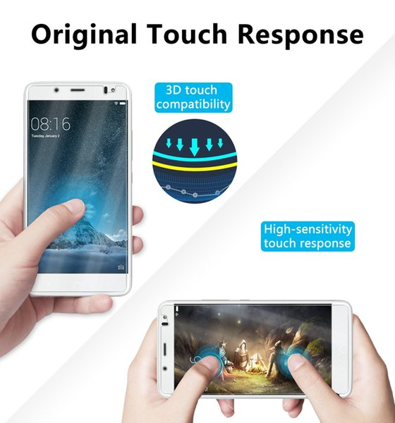 For BQ Aquaris X5S Tempered Glass Film 9H Hardness 2.5D High Guality Screen Protector Anti-glare Coating Easy To Clean