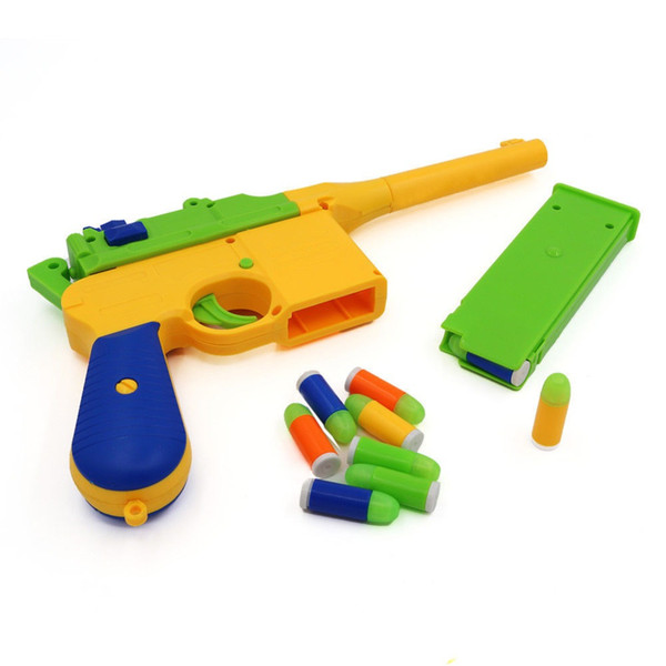 Toy Pistol Children's Noctilucent Soft Bullet Gun Colorful Bullets Kids Toy Outdoor Shooting Game