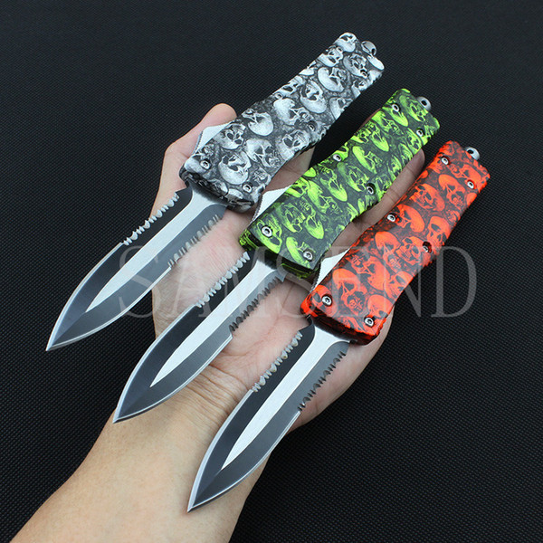 4 type multi-function A16 automatic tactical knife Tanto double action front automc knife 440c atioutdoor camping self-defense hunting