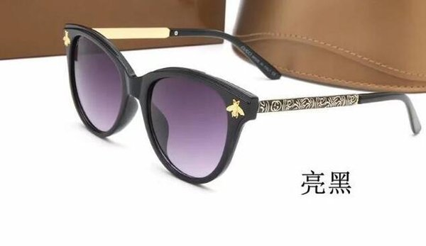 top popular 2018 New italy brand bee sunglasses with logo women men fashion mix 4 colors big frame sun glasses lady driving shopping eyewear 2019