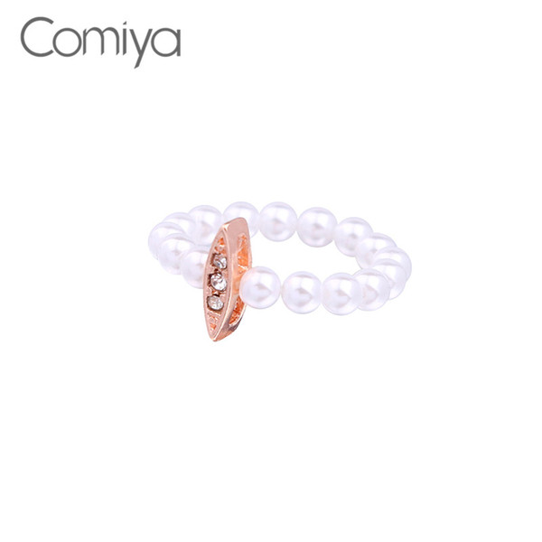 Comiya Ringe Hot Fashion Gold Farbe Zink-legierung Schmuck Kristall Bijoux Für Frauen Bijoux Femme Bagues Anillos Mujer Zubehör