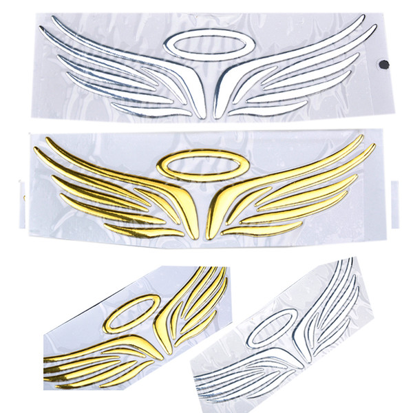 Angle Wings Sailing Design 3D PVC Soft Car Styling Sticker Decal Funny Emblems For Toyota VW Accessories 16cm*5cm