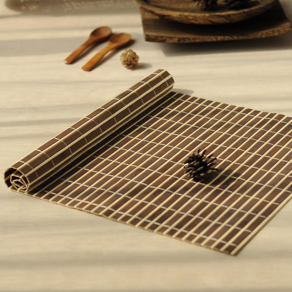 1pcs bamboo placemats Heat Resistent Table Placemat Tableware Pad Waterproof Coffee Mat home decoration Ceremony