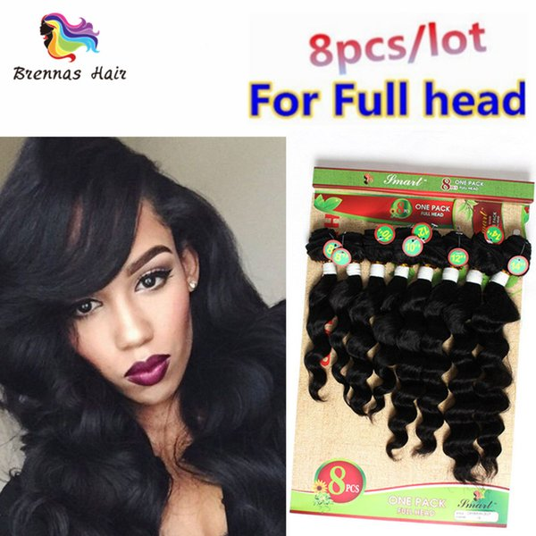 Human hair wefts Brazilian original Cheap deep loose wave kinky curl jerry curly Ombre hair weaving bundles 8pcs lot for one head