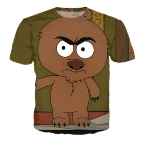 Sondirane Fashion Women / Mens Brickleberry Funny 3D Imprimir Casual Camiseta Verano de manga corta Camiseta transpirable Tops Tops Casual Tops