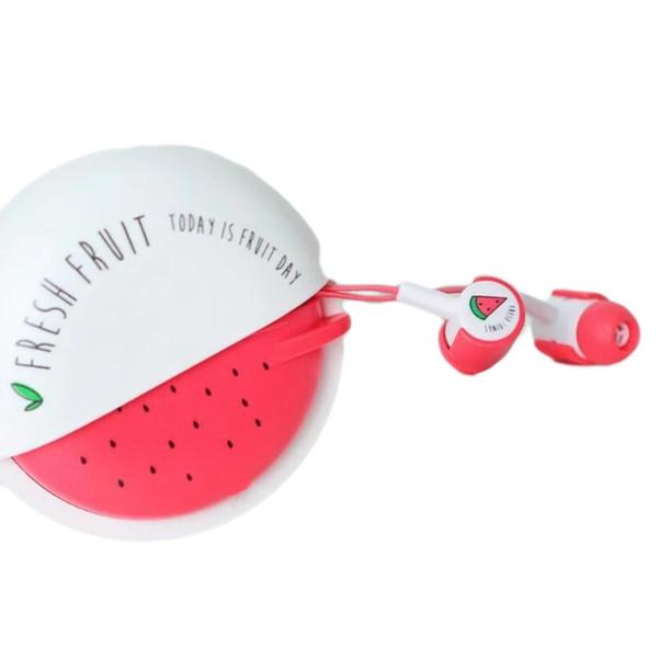 Marsnaska Cute Fruit Candy Auricolari colorati 3.5mm Auricolari in-ear con microfono per iPhone Samsung Xiaomi Child Student Gifts