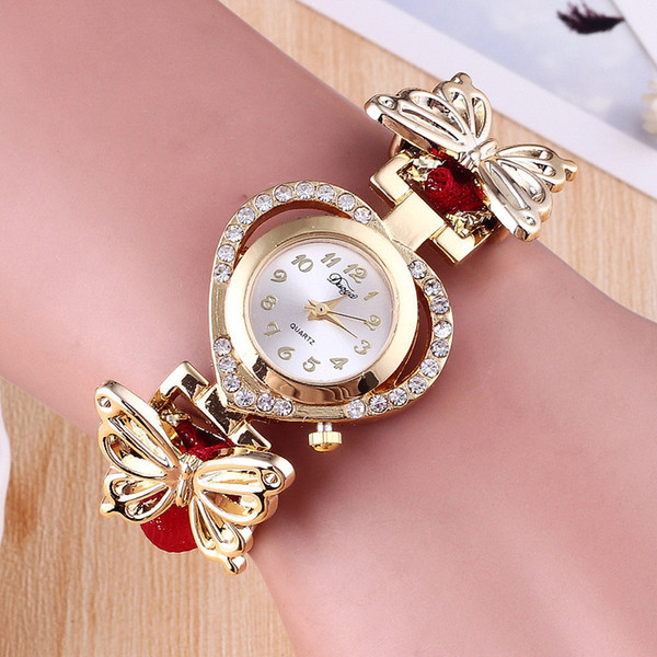 New girls love bracelet watch butterfly decoration jewelry couple gift wholesale