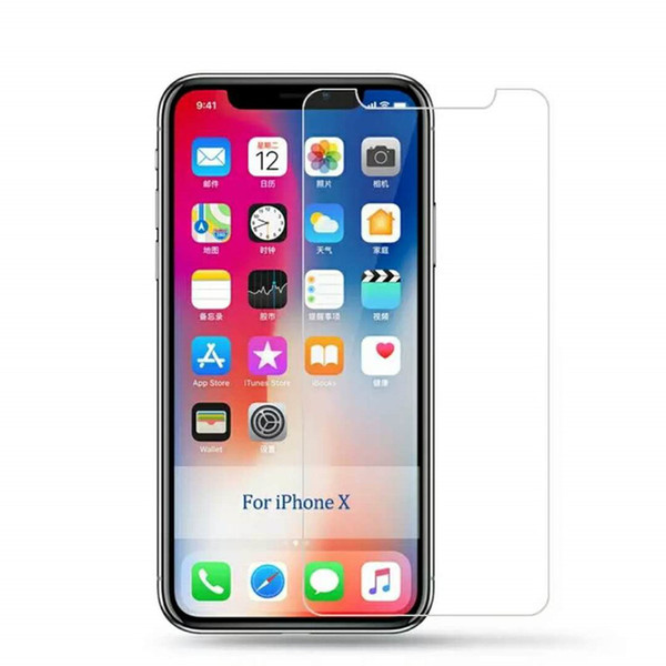 for iphone 5s screen protector For Apple iphone 8 Plus X XS Max XR 4 4s 5s 5c SE 6 7 Plus Touch 6 5 9H 2.5D 0.26MM Tempered glass Film