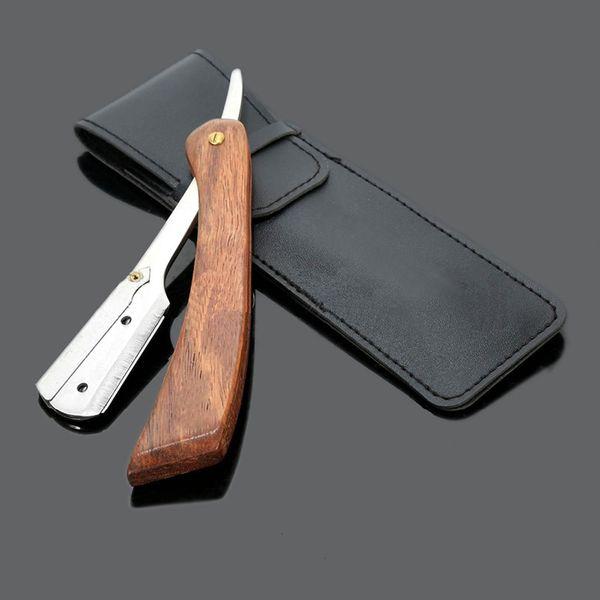 Manual Shaver Professional Straight Edge Stainless Steel Sharp Barber Razor Folding Shaving Knife Shave Beard Cutter M03172