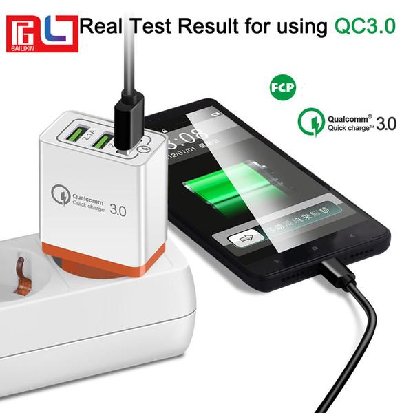 Adaptateur de charge rapide pour chargeur rapide 3 ports USB 3.0 QC 3.0 pour Iphone X Samsung S8 S9