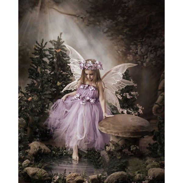 Diy Diamond Painting Full Drill Butterfly Fairy Angel Embroidery Cross Stitch Home Decor Handmade Arts And Crafts 12cx gg