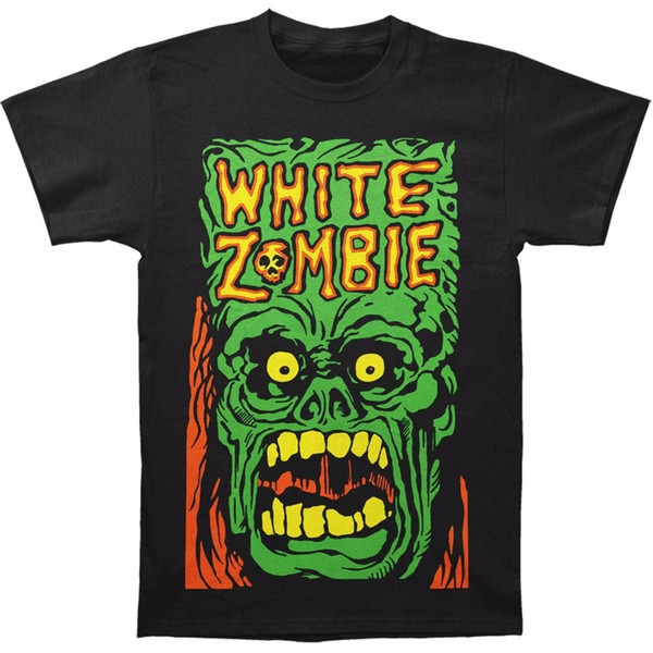 Best Graphic Tees Cotton Crew Neck White Zombie Men's Monster Yell T-Shirt Short-Sleeve Shirts For Men
