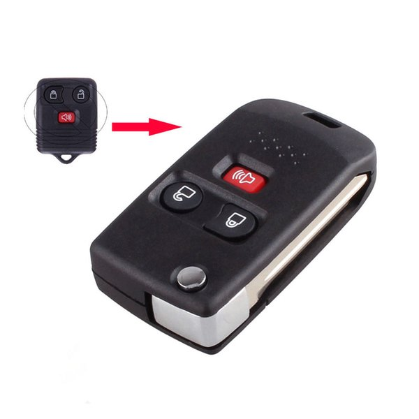 3 Buttons Modified Flip Folding Remote Key Shell Case Cover Fob For Ford Mercury Mazda Car Replacement Key Covers