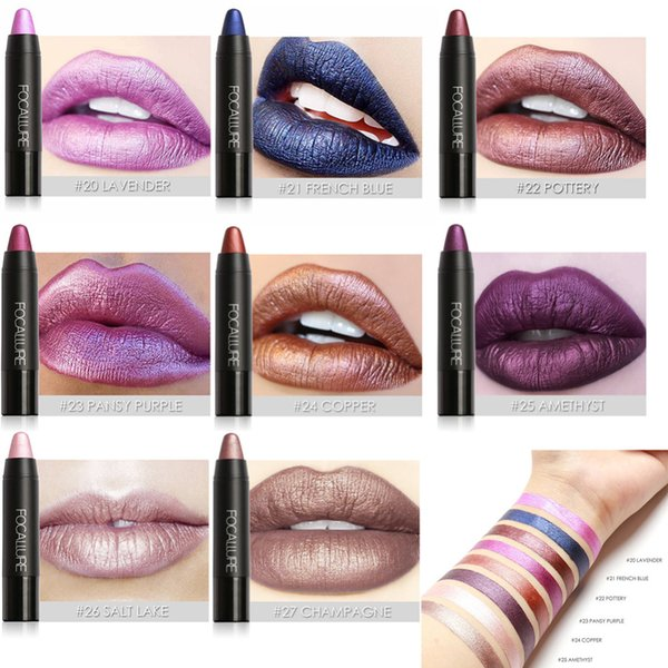 FOCALLURE 8 Colors Waterproof Matte Pigments Lipstick make up Beauty Cosmetics Lip Stick Long Lasting Lip Gloss maquiagem Makeup