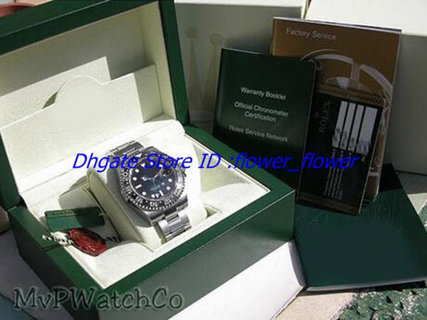 Al por mayor - Reloj de pulsera de cerámica perpetua de acero inoxidable GMT II para hombre negro # 116710 Relojes de pulsera para hombre
