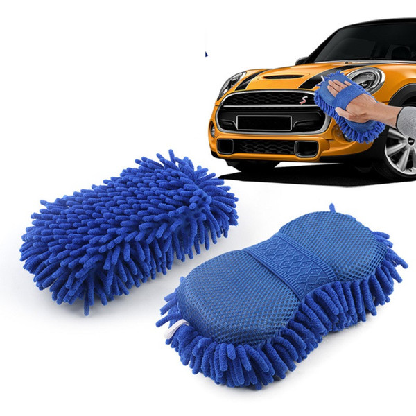 2 In 1 Car Washing Gloves Car Cleaning Sponge Coral Shaped Superfine Fiber Chenille Car Washing Care Accessories Sponge