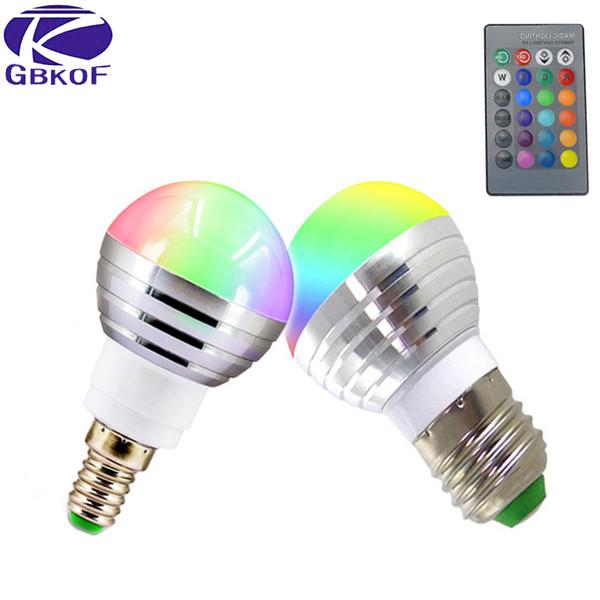 Großhandel Gbkof E14 E27 5 Watt / 7 Watt Rgb Led Lampe 110 V 220 V ...