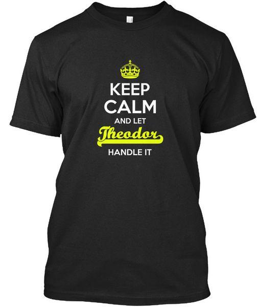 Theodor Keep Calm Let Griff T-Shirt Elegant T-Shirt Auto-Styling Marke Kleidung Baumwolle Crewneck 3XL Kurzarm Benutzerdefinierte T-Shirts