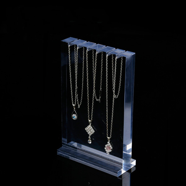 Jewelry Necklaces Display Prop Stand Clear Acrylic Boutique Shop Showcase Fair Market Booth Jewellery Necklace Displays Holder Organizer