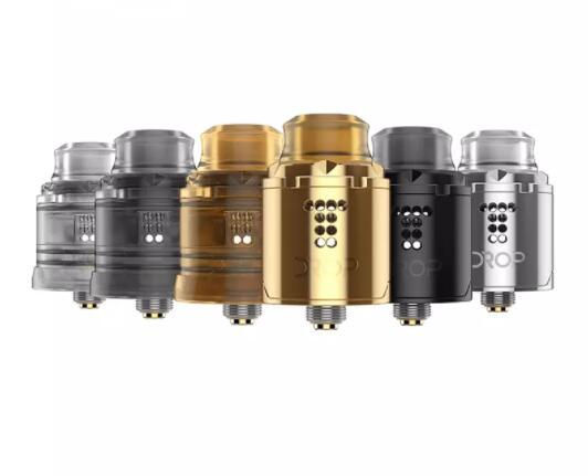 100% Original Digiflavor Drop Solo RDA Single Coil build deck 22mm Version Stepped Airflow Design with Two different caps