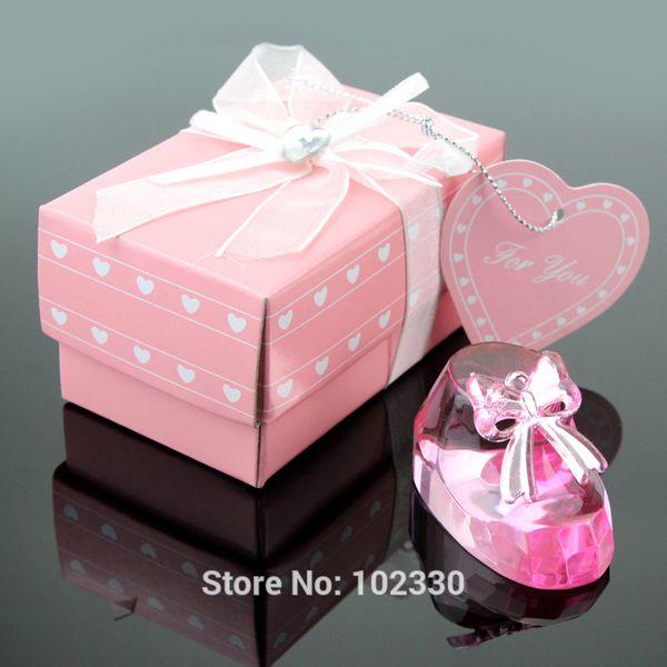50pcs rosa chiaro bambino scarpa cravatta arco per battesimo favorisce baby shower festa ricordi souvenir nuziale all'ingrosso
