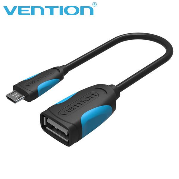 Vention USB 2.0 Câble OTG Mini USB OTG Adaptateur de câble de données 10cm Micro Data Link pour téléphone Android Tablette MP3 / 4 joueurs noir