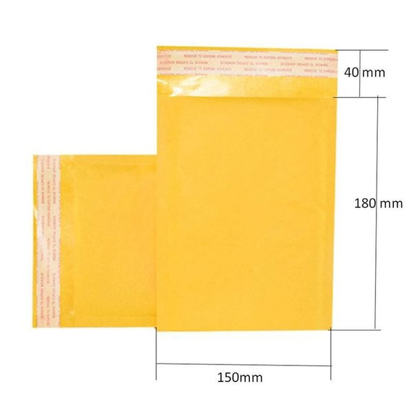 150*180mm Kraft Bubble Mailers Mailing Padded Envelopes Bags Wrap Bags Pouches Packaging Bubble Bags Free Shipping