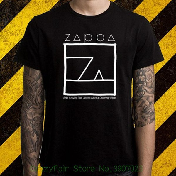 Frank Zappa Album Logo Music Legend Men's Black T-shirt S M L Xl Free Shipping Cotton Shirts Cheap Wholesale