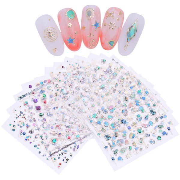 3D Nail Sticker Jewelry Gem Stone Self Adhesive Nail Art Transfer Decals Manicure DIY Decoration for UV Gel Polish
