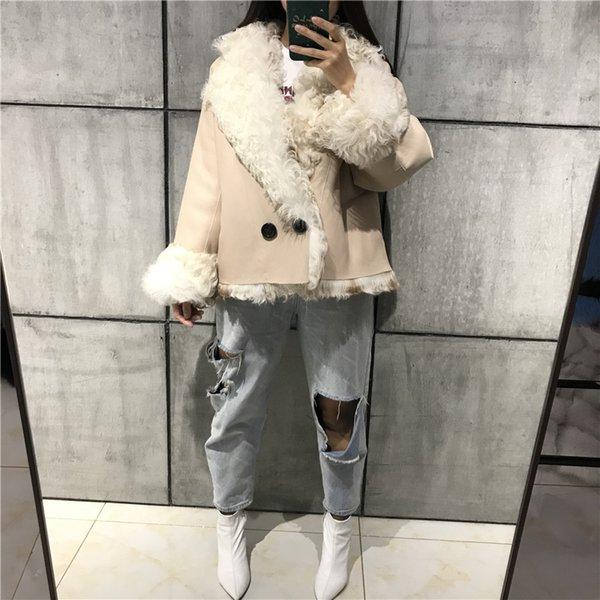 bayanlar süet ceket kadın kuzu kürk ceket shearling