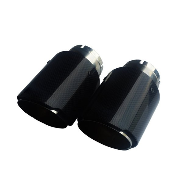 Hot 1 Pcs 54mm~63mm Inlet 89mm Outlet Exhaust Tip Universal Carbon Fiber Car Exhaust Pipe Tail Muffler Tip Free Shipping