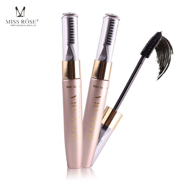 Miss Rose 3D Fiber Lashes Rimel Mascara Makeup ink Gel Natural Fibers Long-lasting Waterproof Eyelash Lengthening Thick Curling
