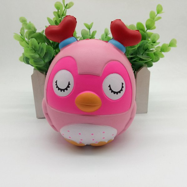 Kawaii Cute Double-Angled Chicken Squishy Simulation Slow Rising Soft Squeeze Fun Decompression Toy Reliever Kids Gift Novelty Items OOA4995