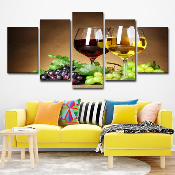 Home Decor HD Printed Wine Wine Glasses Drink Alcohol Painting Canvas Print Room Decor Print Poster Picture Painting On Canvas