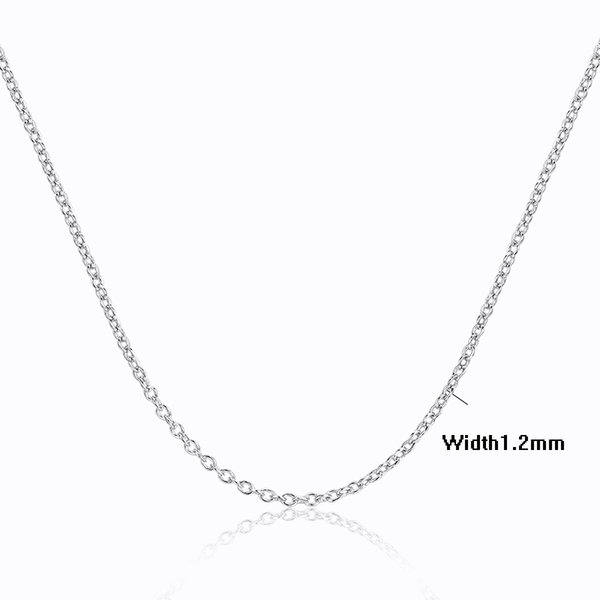 6Sizes Available 35cm-80cm+5cm extended Slim 925 Sterling Silver Cut Cross Chain Necklaces Women Girls Jewelry kolye collares