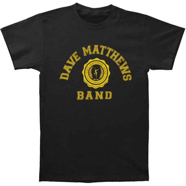 Canada Dave Matthews Band Men's College Logo Slim Fit T-shirt Black Rockabilia goose donwn jacket