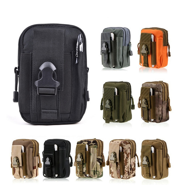 Tactical Molle Pouch Bag EDC Utility Gadget Waist Bag Pack Camping Hiking Outdoor Gear Cell Phone Holster Holder for iPhone Samsung